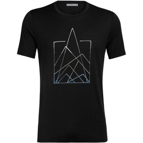 Icebreaker Tech Lite 7 Pinnacles Crew Top T-shirt Heren, black